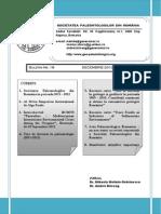 Acta Palaeontologica Romaniae Buletin informativ Nr. 18