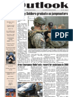 Outlook Newspaper  - 26 February 2009 - United States Army Garrison Vicenza - Caserma, Ederle, Italy