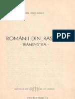 Românii din Răsărit  Transnistria