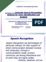 Speech Recognition UTHM