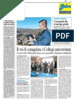 Il Wifi conquista i collegi universitari - Il Resto del Carlino del 7 novembre 2013