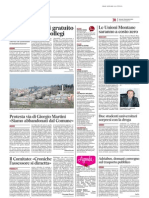 Università, wifi gratuito all'interno dei collegi - Il Messaggero del 7 novembre 2013