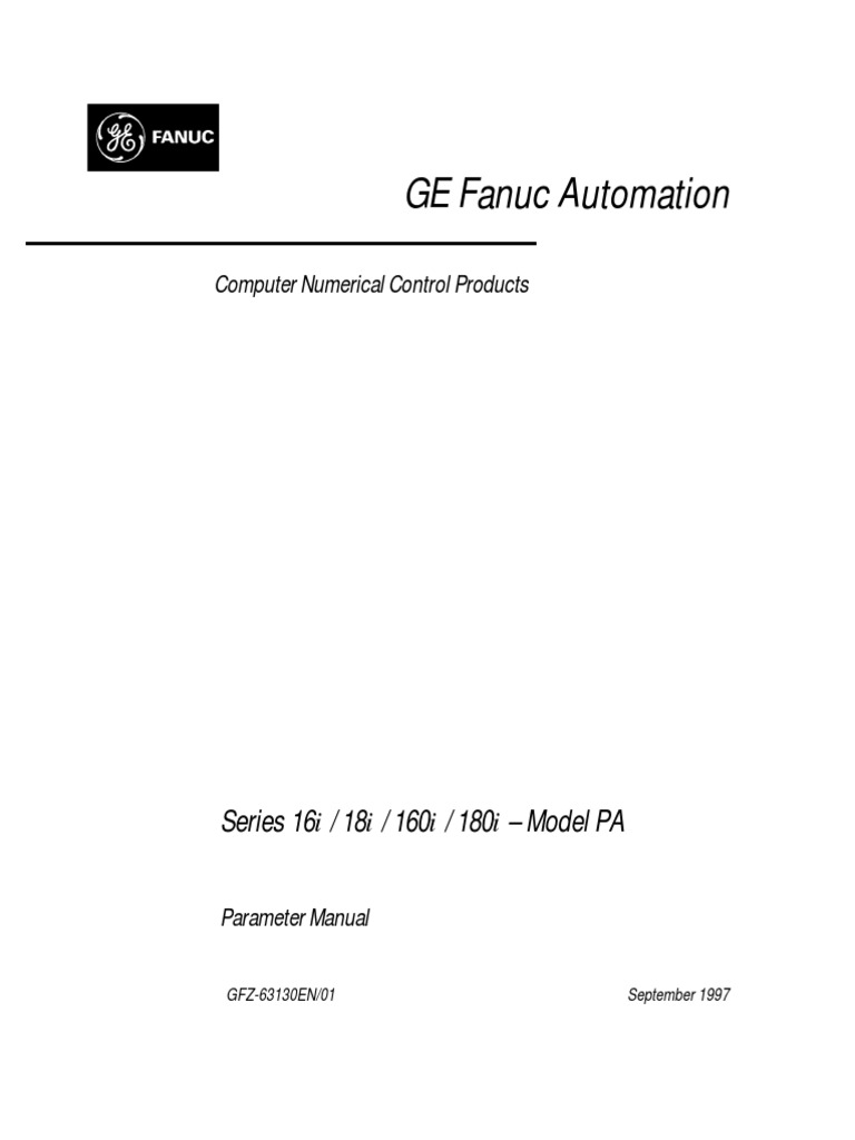 Fanuc 16i 18i 160i 180i Model Pa Parameter Manual   Parameter (Computer  Programming)   Data Type