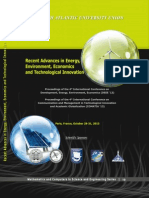 RECENT ADVANCES in ENERGY,ENVIRONMENT, ECONOMICS andTECHNOLOGICAL INNOVATION
