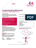 FLYER - Understanding Behaviour family seminar for parents of children aged up to 16