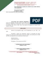 Apelação - interposição ELIESLSON DOS SANTOS MIRANDA