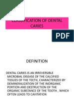 clasificare carii dentare  otr cariologie  an III