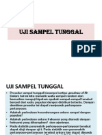 (1) Uji Sampel Tunggal