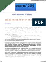 INCOTERMS - Termos Internacionais de Comércio