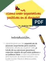 Cómo crear expectativas positivas en el docente