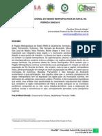 A Dinâmica Populacional da Região Metropolitana de Natal no Período 2000-2010