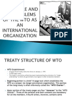 Structure and Key Problems of Wto