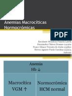 Anemias Macrocíticas Normocrómicas
