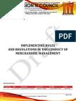 Nfjpiar3 1314 IRR No. 3 Merchandise Management