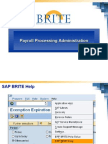 SAP Payroll Processing Administration