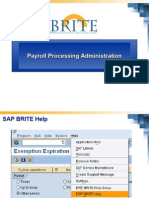 SAP Payroll Processing Administration