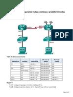 Laboratorio - Configuración de Rutas Estáticas y predeterminadas IPv4