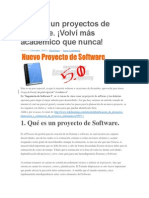 Planear Un Proyectos de Software
