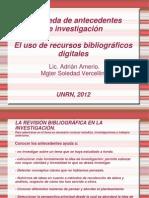 TALLER Uso de recursos bibliográficos digitales