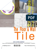 Floor & Wall Tiles made by Turkish Marble