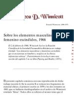 Winnicott - Sobre Los Elementos Masculino y Femenino Escindidos