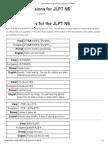 List of Expressions for JLPT N5 – NIHONGO ICHIBAN
