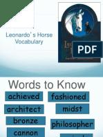 leonardos horse vocabulary