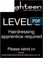 L2  Hairdressing Apprentice required