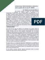 El Proceso Contencioso Administrativo Laboral y Previsional a Partir de La Ley N