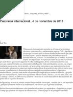 Panorama internacional , 4 de noviembre de 2013 | Signos Virtuales.pdf