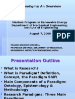 Research Paradigms - An Overview