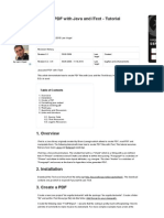 Creating PDF with Java and iText