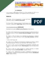 Programa Jornadas Feromonas Murcia 2013