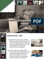 Psihologia copilului; Autoritatea parintilor in fata copiilor