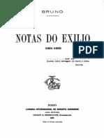 Notas do exilio, por Sampaio Bruno