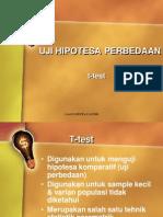 Uji Hipotesa Perbedaan t Test