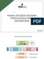 Primera Encuesta Nacional Especializada Sobre Discapacidad - INEI 2013