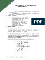 Comportamiento Magnetico de Los Materiales Ferromagneticos