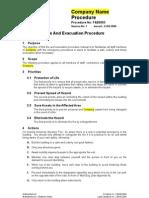 F&E0003 - Fire & Evacuation Plan