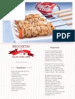 Recetas Coca-Cola Brochetas DePollo