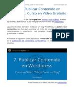 Publicar Contenido en WordPress - Curso Gratis Como Crear Un Blog