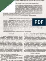 Densidade e distribuição dos estômatos em folhas de Gossypium sp