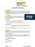 TP&S0004 - Training Plan & Strategy