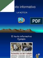 El Texto Informativo La Noticia