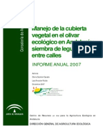 Cubiertas Vegetales en Olivar Legumbres