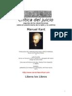 Kant, Immanuel - Crítica del juicio
