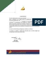 Certificación Bancaria