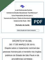 Decreto 55 588 2010 Tratamento Nominal