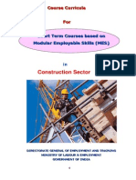 mes course curriculum for construction sector