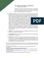 INFORME DE LECTURA – METAFÍSICA, ARISTÓTELES.